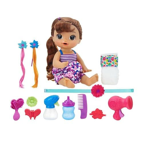 Baby Alive Cute Hairstyles Baby Interactive Doll Brunette Pretend Play